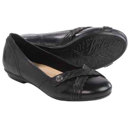 Earth Monarch Leather Flats (For Women) in Black Leather - Closeouts