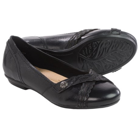 Earth Monarch Leather Flats (For Women)