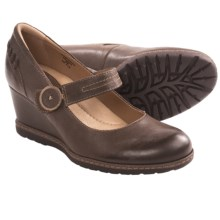 Earth Northstar Wedge Mary Jane Shoes - Leather (For Women) in Brown Leather - Closeouts