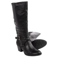 Earth Orchard Leather Boots (For Women) in Black Leather - Closeouts