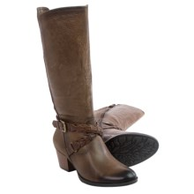 Earth Orchard Leather Boots (For Women) in Taupe Leather - Closeouts