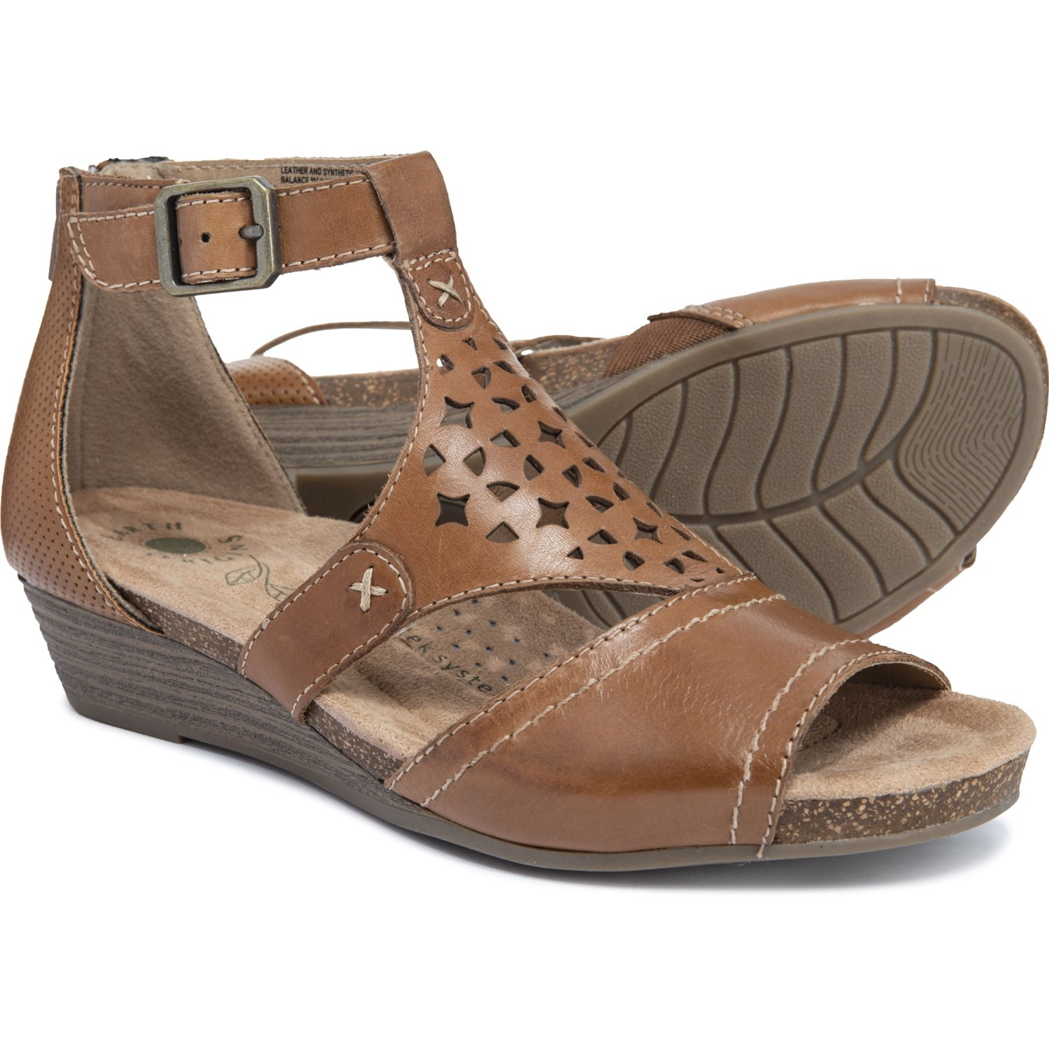 d926fec0cff2 Earth Origins Hermia T-Strap Sandals - Leather (For Women) in Alpaca 2