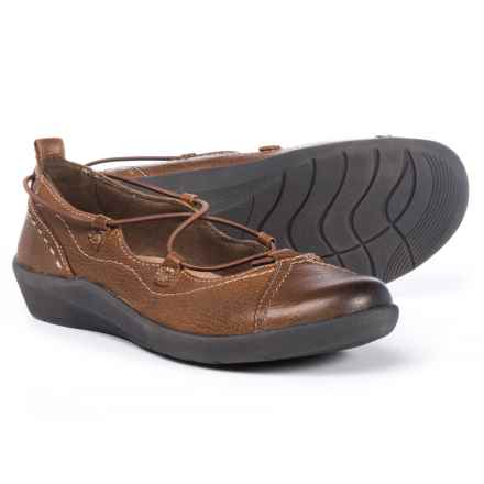 Earth Origins London Flats - Leather, Slip-Ons (For Women) in Almond - Closeouts