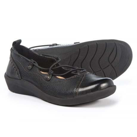 Earth Origins London Flats - Leather, Slip-Ons (For Women) in Black