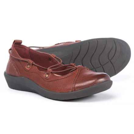 Earth Origins London Flats - Leather, Slip-Ons (For Women) in Rosso - Closeouts