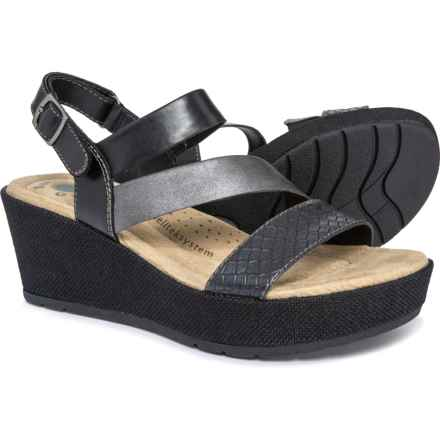 9267df1e3b1d Earth Origins Maxine Platform Wedge Sandals (For Women) in Black Multi -  Closeouts