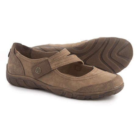 Earth Origins Rory Mary Jane Shoes - Leather (For Women) in Taupe Khaki
