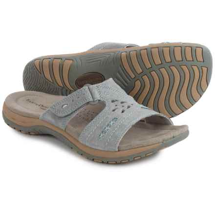 Earth Origins Sizzle Sandals - Suede (For Women) in Frost Grey - Closeouts