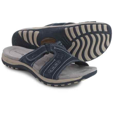 Earth Origins Sizzle Sandals - Suede (For Women) in Navy Blue - Closeouts