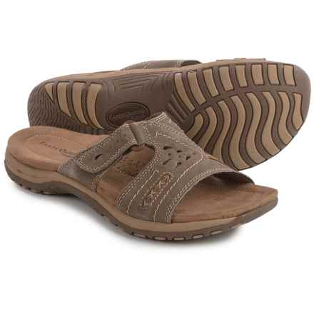 Earth Origins Sizzle Sandals - Suede (For Women) in Sedona Brown - Closeouts