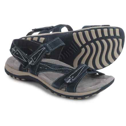 Earth Origins Sophie Sport Sandals - Suede (For Women) in Navy Blue - Closeouts