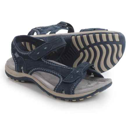 Earth Origins Summer Sport Sandals - Suede (For Women) in Navy - Closeouts