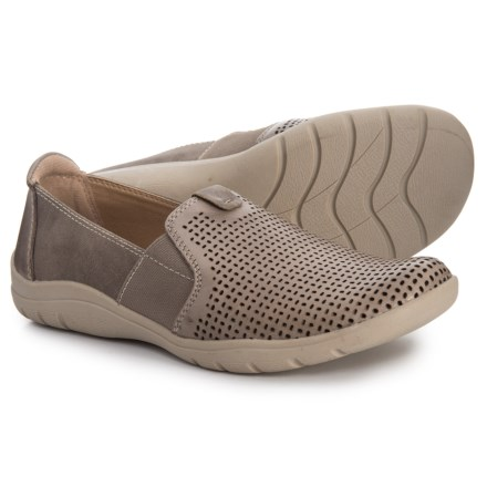 464a6539241dba Earth Origins Tanner Leather Shoes - Slip-Ons (For Women) in Dove Grey