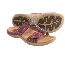 Earth Papaya Leather Sandals (For Women) in Raspberry Calf Leather - Closeouts