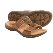 Earth Papaya Leather Sandals (For Women) in Sand Brown Calf Leather - Closeouts