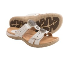 Earth Papaya Leather Sandals (For Women) in White Leather - Closeouts