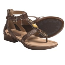 Earth Paprika Sandals - Leather, T-Strap (For Women) in Brown Calf - Closeouts