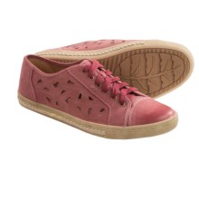 Earth Pomelo Sneakers - Leather (For Women) in Red - Closeouts