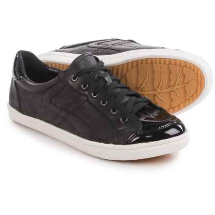 Earth Quince Sneakers - Leather (For Women) in Black Leather - Closeouts