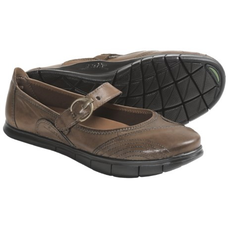 Earth Rally Mary Jane Shoes - Leather (For Women) in Almond