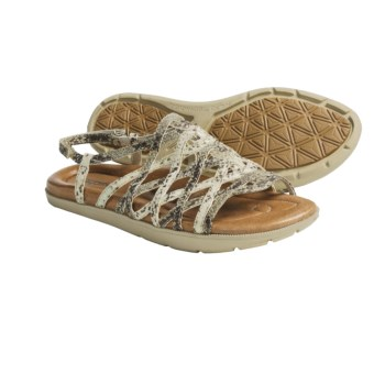 Earth Razzle Sandals - Leather (For Women) in Beige