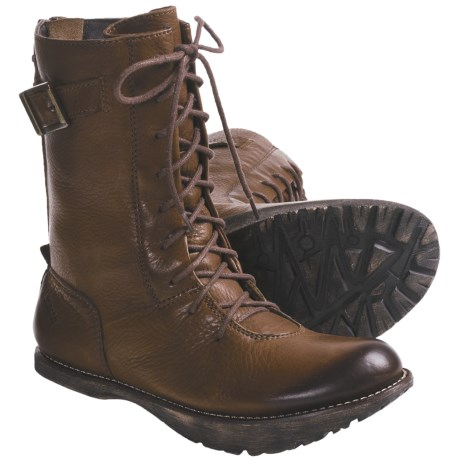 Earth Rebel Lace-Up Boots - Leather (For Women) in Almond