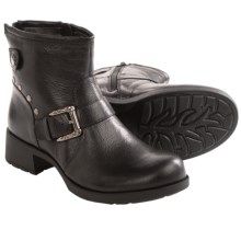 Earth Redwood Ankle Boots - Leather, Zip-Up (For Women) in Black Leather - Closeouts