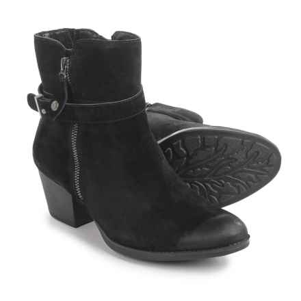 Earth Royal Ankle Boots - Suede (For Women) in Black - Closeouts