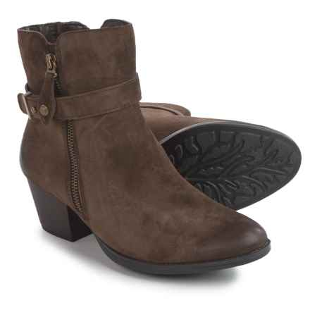 Earth Royal Ankle Boots - Suede (For Women) in Chestnut Brown - Closeouts