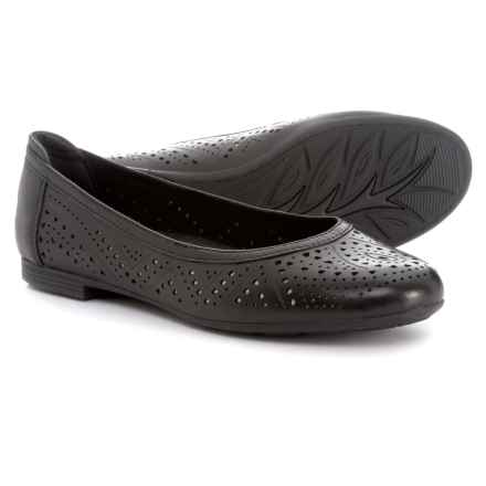 Earth Royale Ballet Flats - Leather (For Women) in Black Leather - Closeouts