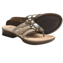 Earth Saffron Sandals (For Women) in Light Khaki Nubuck - Closeouts