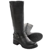 Earth Sequoia Boots - Leather, Side Zip (For Women) in Black Leather - Closeouts