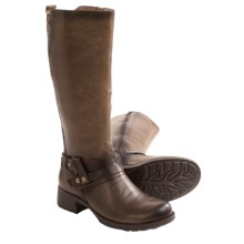 Earth Sequoia Boots - Leather, Side Zip (For Women) in Taupe Leather - Closeouts