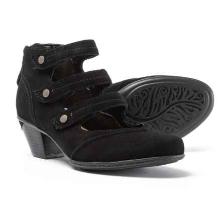 Earth Serano Shoes - Leather (For Women) in Black Suede - Closeouts