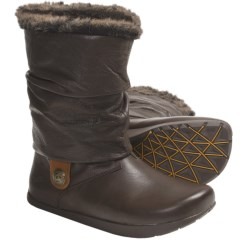 Earth Shannon Boots - Leather, Faux-Shearling Lining (For Women) in Mahogany