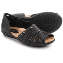 Earth Shore Sandals - Leather (For Women) in Black Calf - Closeouts