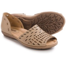 Earth Shore Sandals - Leather (For Women) in Light Pecan Calf - Closeouts