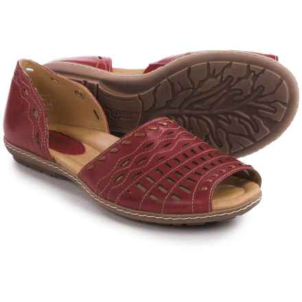 Earth Shore Sandals - Leather (For Women) in Regal Red Calf - Closeouts