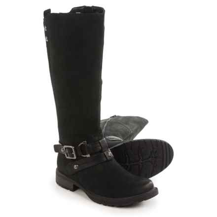Earth Sierra Tall Boots - Leather (For Women) in Black - Closeouts