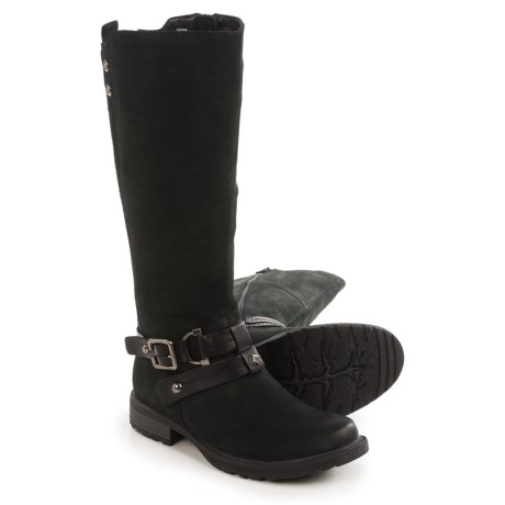 Earth Sierra Tall Boots - Leather (For Women) in Black