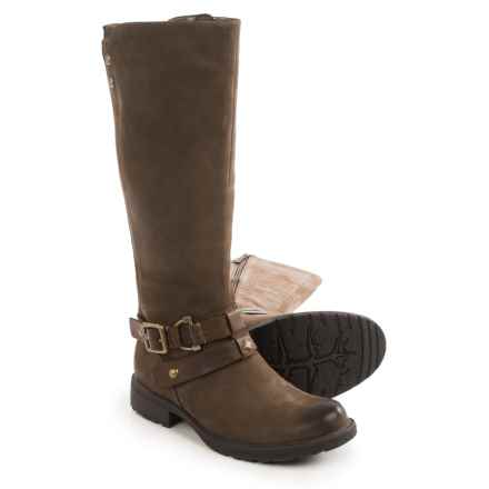 Earth Sierra Tall Boots - Leather (For Women) in Stone - Closeouts
