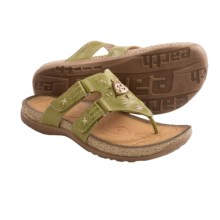 Earth Sisal Sandals - Leather (For Women) in Apple Green - Closeouts