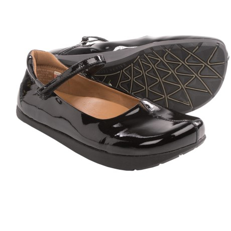 Earth Solar Mary Jane Shoes - Leather (For Women) in Black Patent