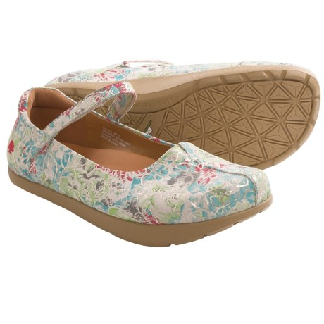 Earth Solar Mary Jane Shoes - Leather (For Women) in Floral Print
