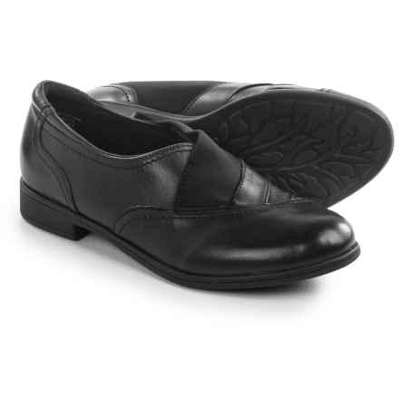 Earth Stratton Shoes - Leather, Slip-Ons (For Women) in Black Leather - Closeouts