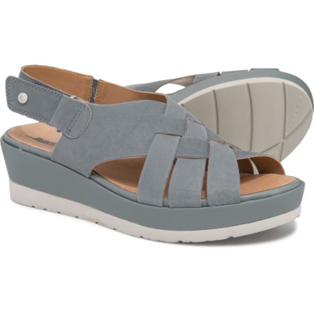 a2c7596fea3 Earth Sunflower Wedge Sandals (For Women) in Seaport Blue