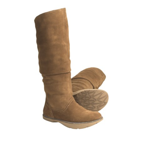 Earth Swank Suede Boots (For Women) in Date