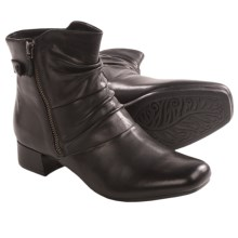 Earth Wickwire Ankle Boots- Side Zip (For Women) in Black Calf - Closeouts