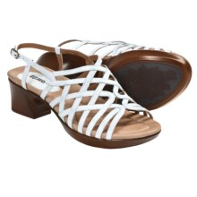 Earth Wisteria Sandals - Leather (For Women) in White Leather - Closeouts
