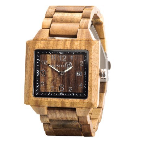 Earth Wood Goods EW1004 Culm Watch - Wood Bracelet in Olive Wood